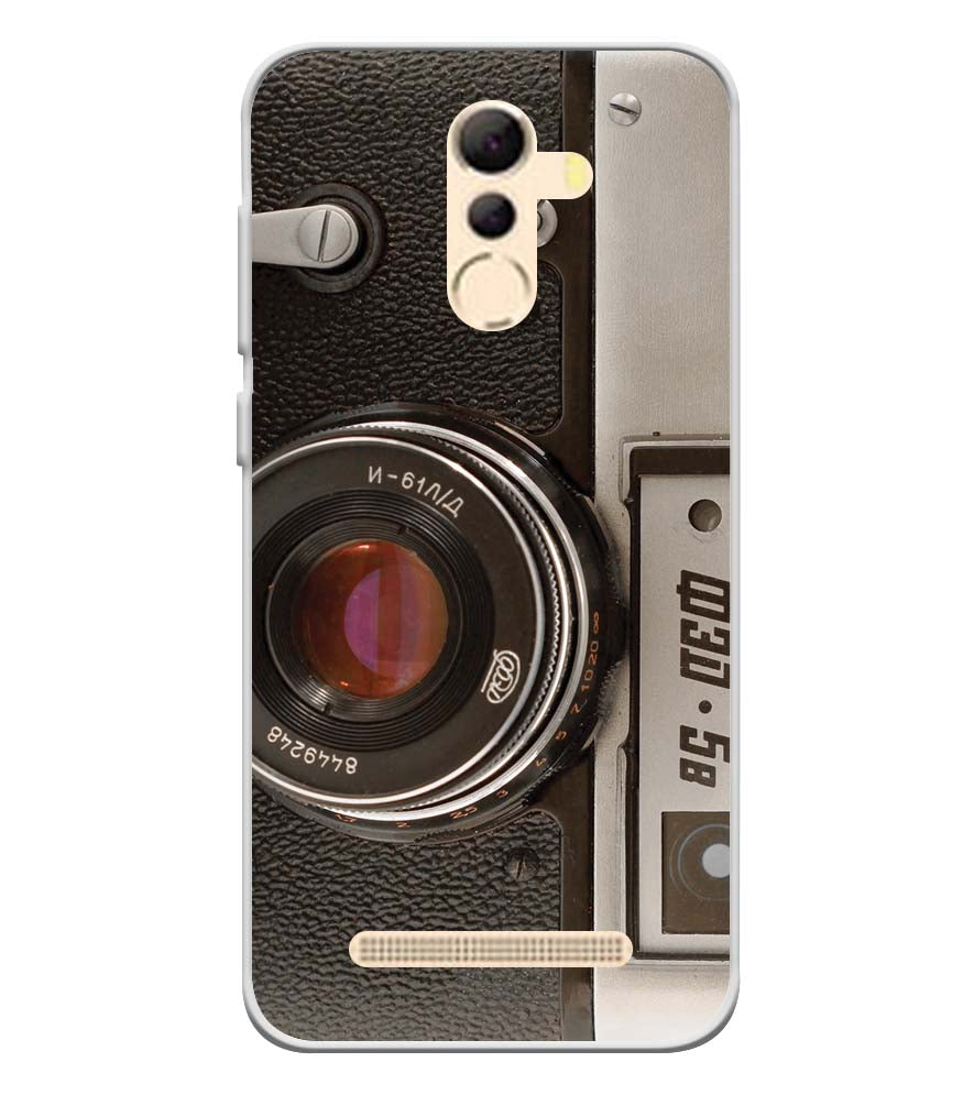 Vintage Camera Soft Silicone Back Cover for Coolpad Mega 5A