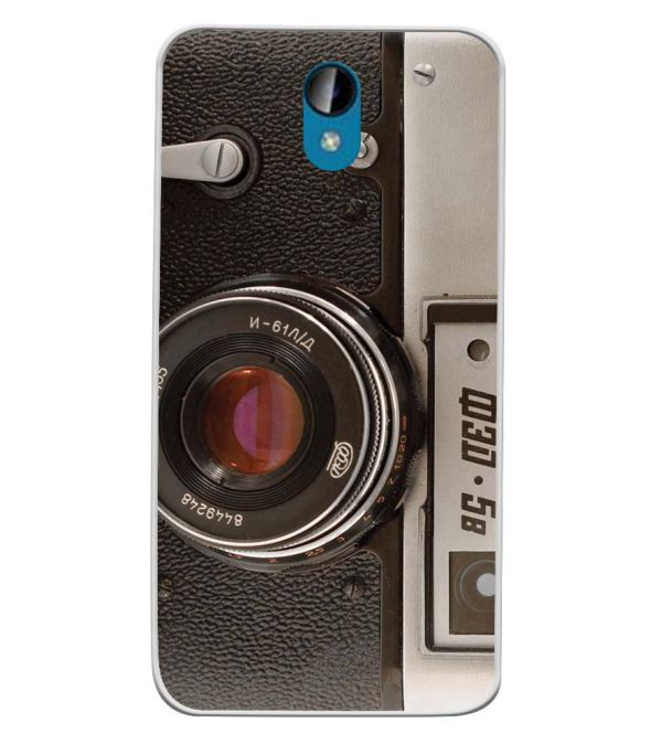 Vintage Camera Soft Silicone Back Cover for Intex Lions 6