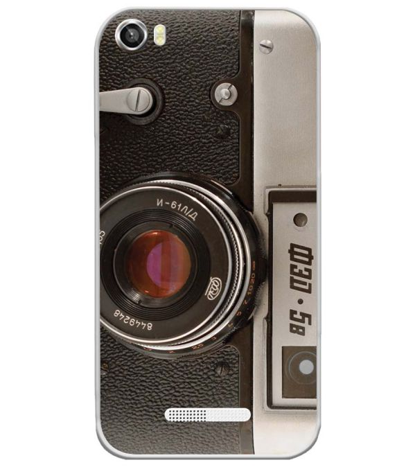 Vintage Camera Soft Silicone Back Cover for Lava Iris X8