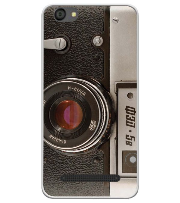 Vintage Camera Soft Silicone Back Cover for LYF Flame 5