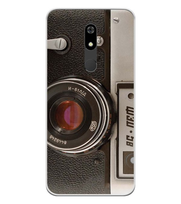 Vintage Camera Soft Silicone Back Cover for Micromax Canvas Infinity Pro