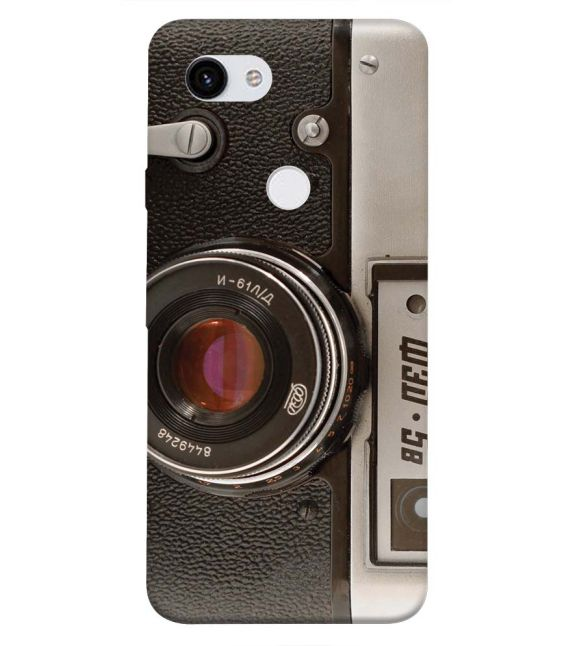 Vintage Camera Back Cover for Google Pixel 3a
