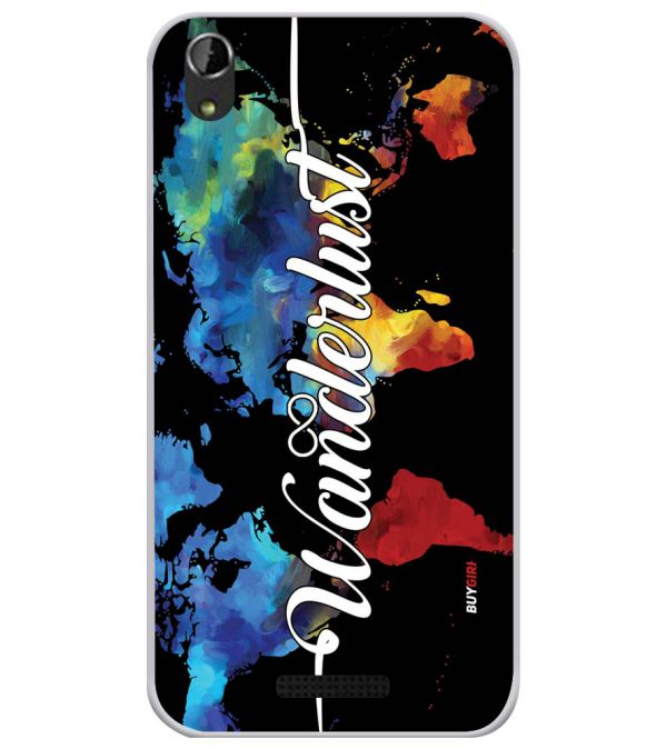 Wanderlust Soft Silicone Back Cover for Lava Iris Atom X1