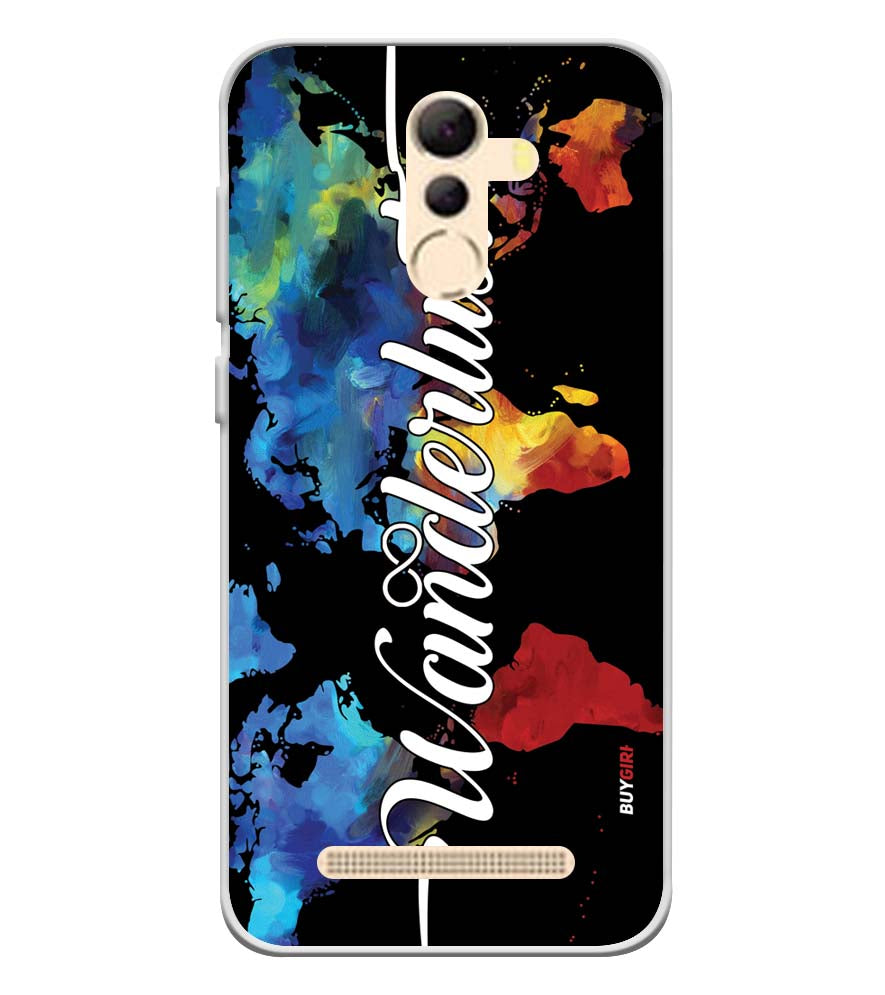 Wanderlust Soft Silicone Back Cover for Coolpad Mega 5A