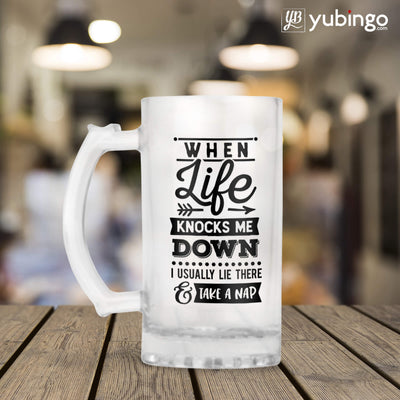 When Life Knock Me Down Beer Mug-Image3