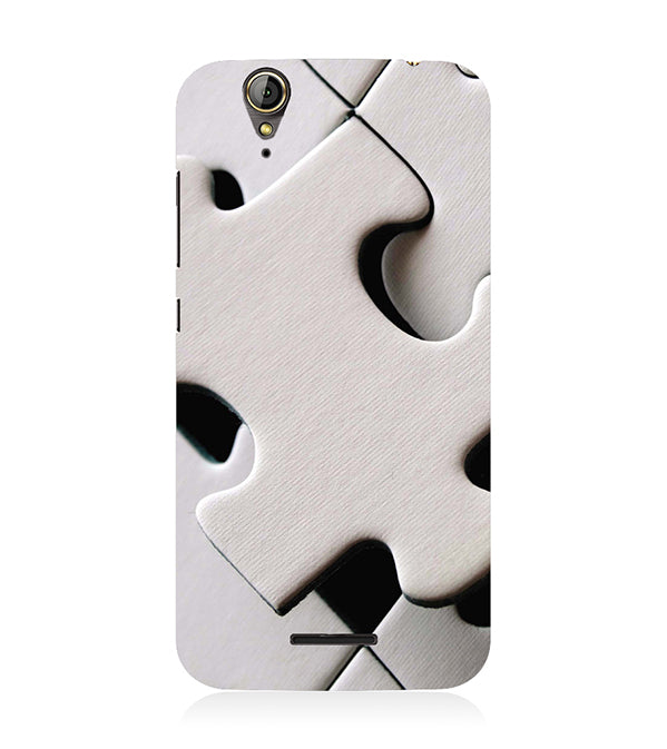 White Stylish Puzzle Back Cover for Acer Liquid Zade 630