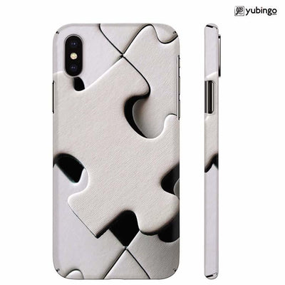 White Stylish Puzzle Back Cover for Apple iPhone X