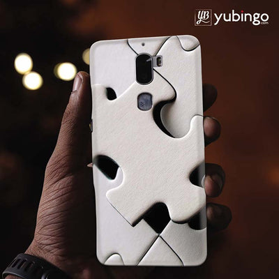 White Stylish Puzzle Back Cover for Coolpad Cool 1-Image2