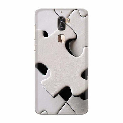 White Stylish Puzzle Back Cover for Coolpad Cool 1