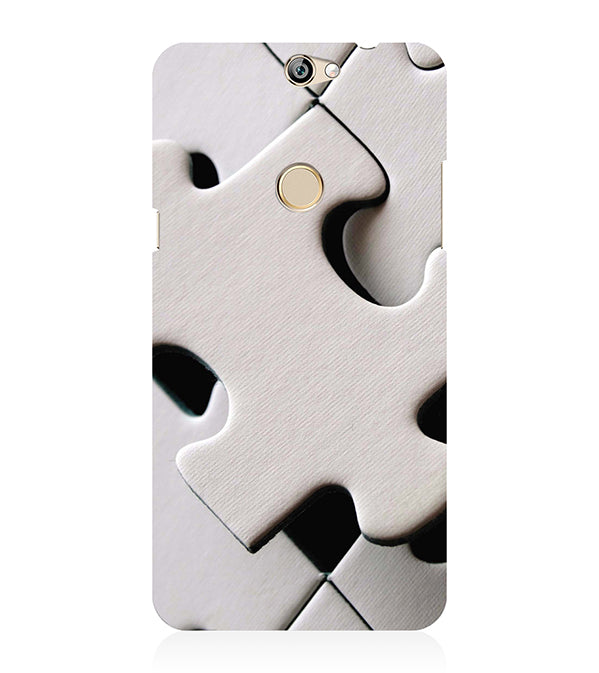 White Stylish Puzzle Back Cover for Coolpad Max