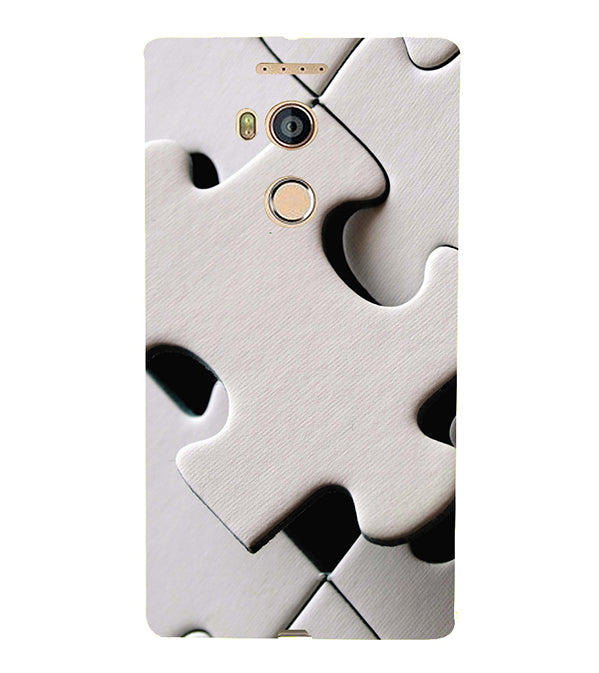 White Stylish Puzzle Back Cover for Gionee Elife E8