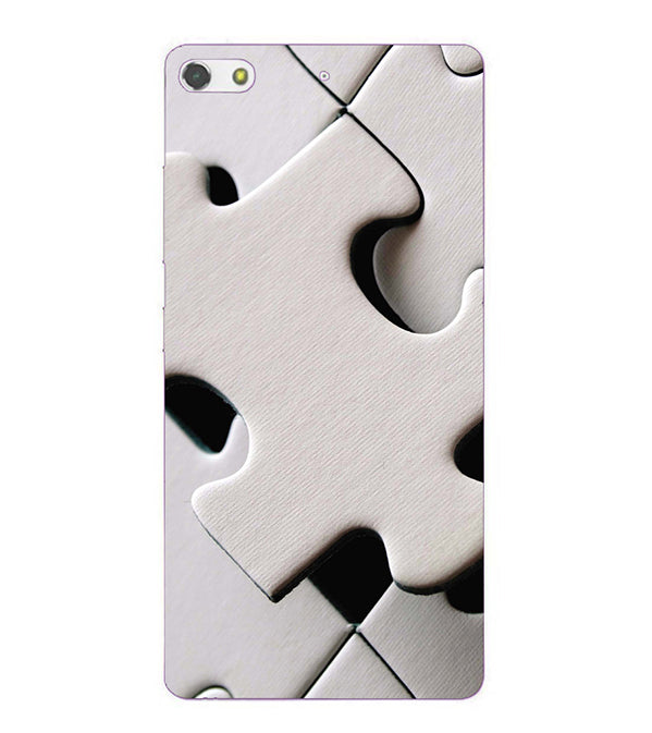 White Stylish Puzzle Back Cover for Gionee Elife S7