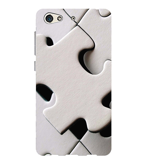 White Stylish Puzzle Back Cover for Gionee S10