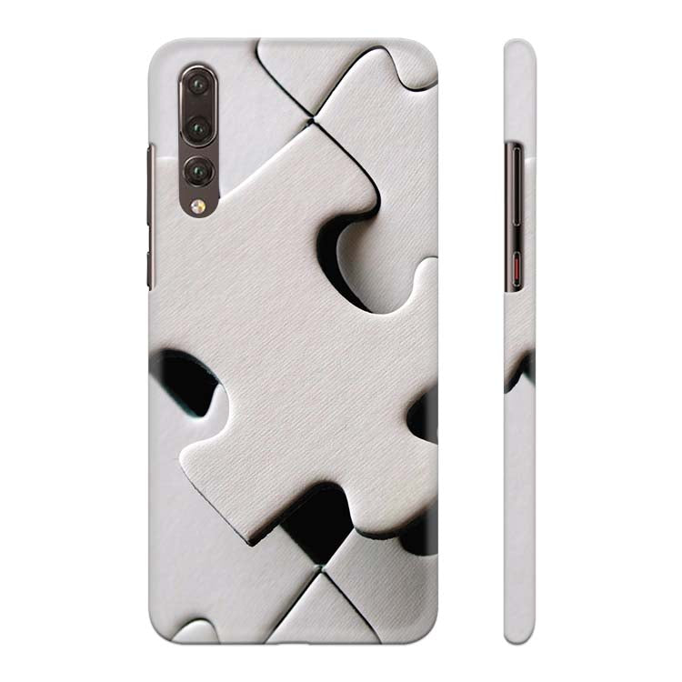 White Stylish Puzzle Back Cover for Huawei P20 Pro