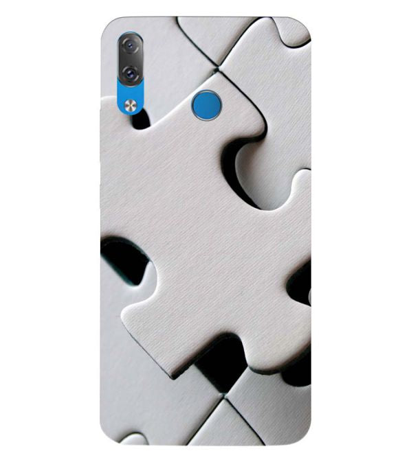 White Stylish Puzzle Back Cover for Lenovo Z5