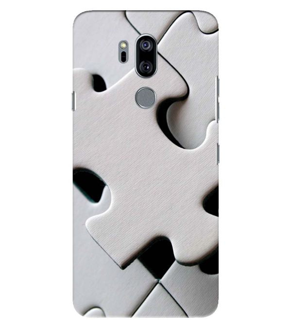 White Stylish Puzzle Back Cover for LG G7