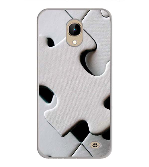 White Stylish Puzzle Back Cover for InFocus A2