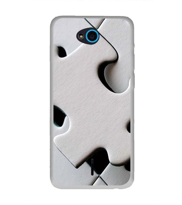 White Stylish Puzzle Back Cover for InFocus Bingo 21