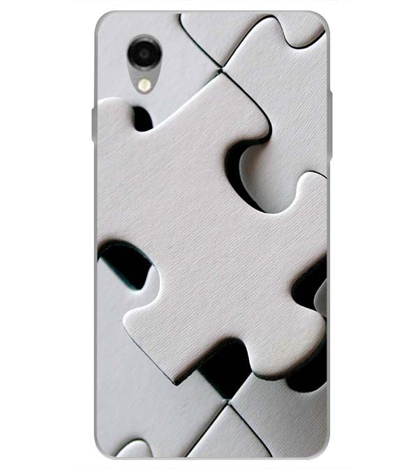 White Stylish Puzzle Back Cover for ITEL PWO Pro
