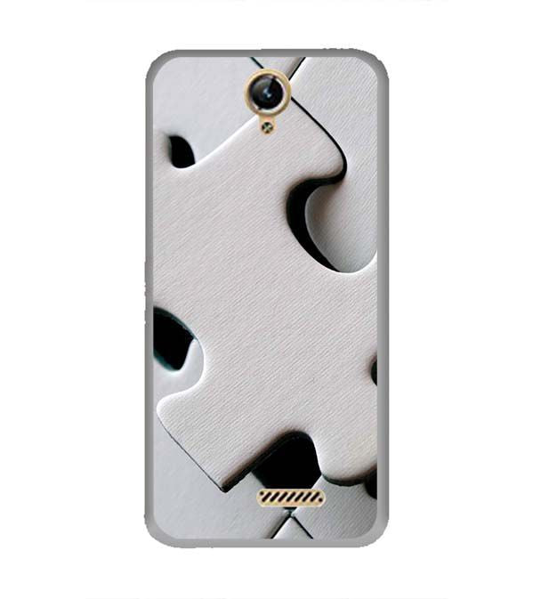 White Stylish Puzzle Back Cover for Lephone W10