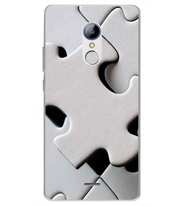 White Stylish Puzzle Back Cover for LYF Water 7