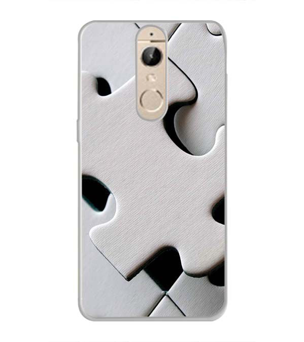 White Stylish Puzzle Back Cover for Panasonic Elugaa I9