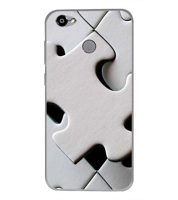 White Stylish Puzzle Back Cover for Smartron TPhone (P)