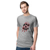 Wild and Free Men T-Shirt-Grey Melange