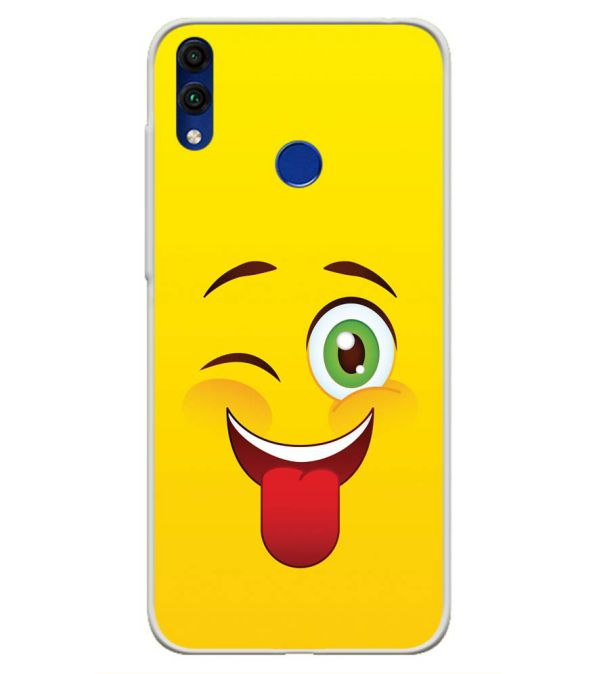 Winkey Smylie Soft Silicone Back Cover for Honor 8C
