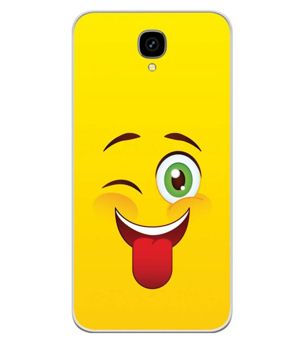 Winkey Smylie Soft Silicone Back Cover for Intex Aqua Lions T1 Lite