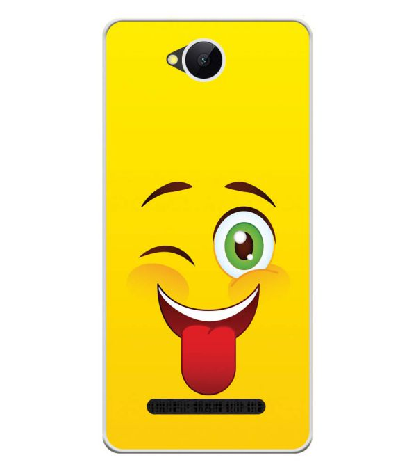 Winkey Smylie Soft Silicone Back Cover for Karbonn A45 Indian