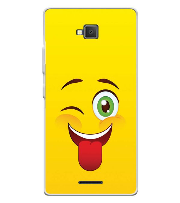 Winkey Smylie Soft Silicone Back Cover for Lava A82