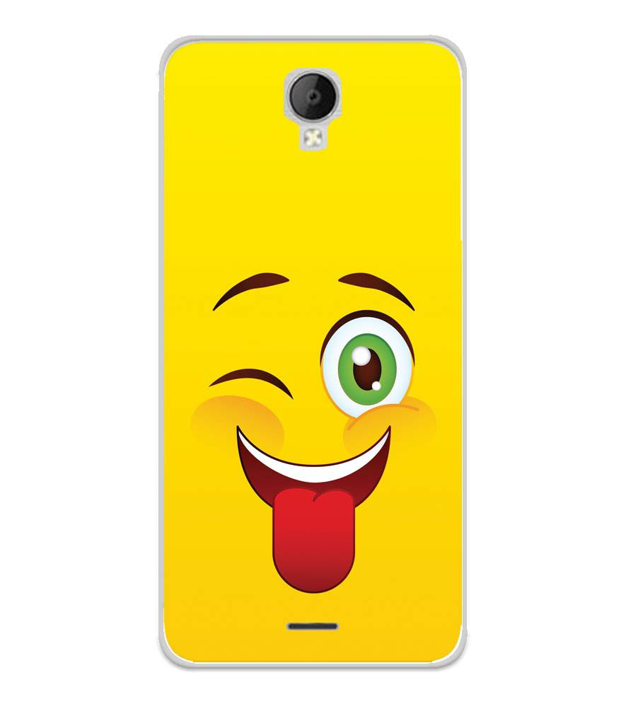 Winkey Smylie Soft Silicone Back Cover for Micromax Spark Go