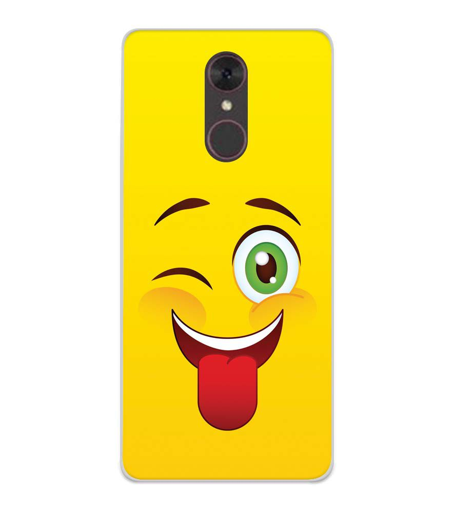 Winkey Smylie Soft Silicone Back Cover for Spice F311
