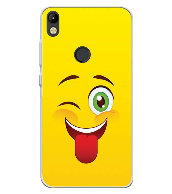 Winkey Smylie Soft Silicone Back Cover for Tecno Camon I