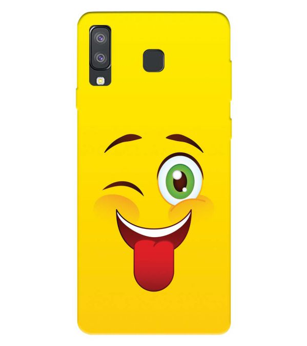 Winkey Smylie Back Cover for Samsung Galaxy A8 Star
