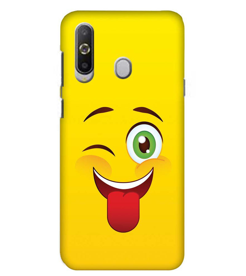 Winkey Smylie Back Cover for Samsung Galaxy A8s