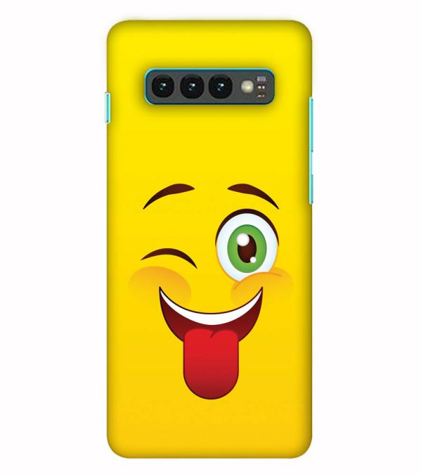 Winkey Smylie Back Cover for Samsung Galaxy S10 (6.1 Inch Screen)