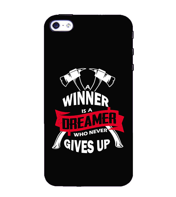 Winner is Dreamer Back Cover for Apple iPhone 4 : 4S