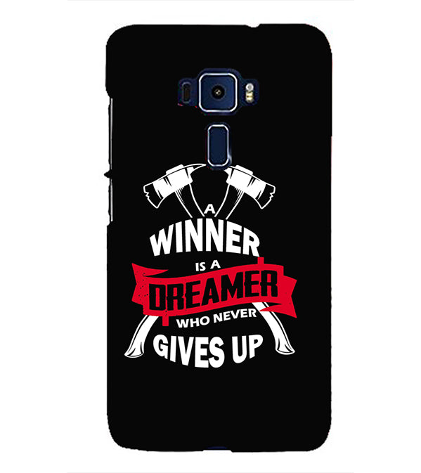 Winner is Dreamer Back Cover for Asus Zenfone 3 ZE552KL