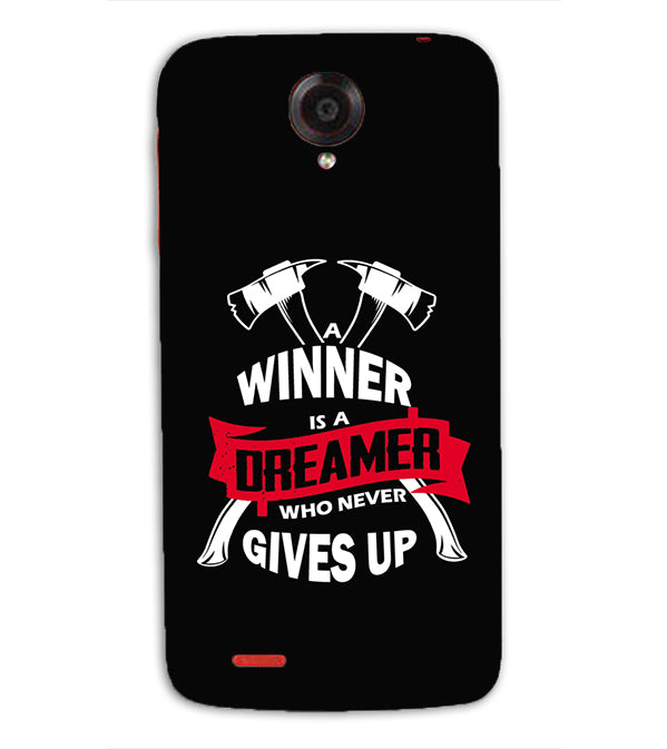Winner is Dreamer Back Cover for Lenovo S820