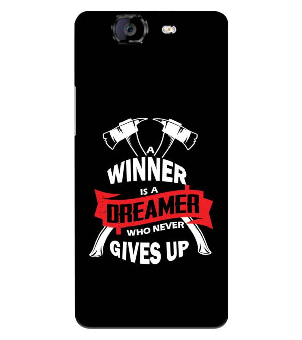 Winner is Dreamer Back Cover for Micromax A350 Canvas Knight