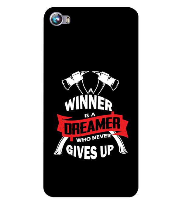 Winner is Dreamer Back Cover for Micromax Canvas Fire 4 A107