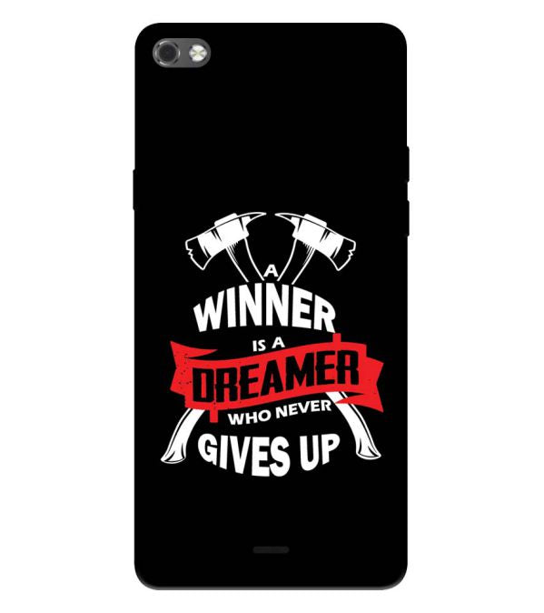 Winner is Dreamer Back Cover for Micromax Canvas Sliver 5 Q450
