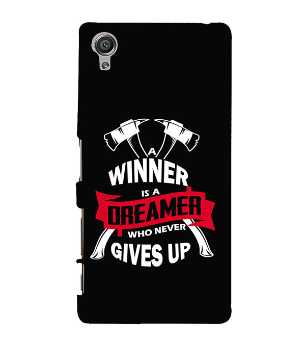 Winner is Dreamer Back Cover for Sony Xperia X