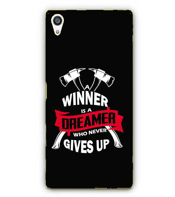 huge discount 99dd4 7931e Winner is Dreamer Back Cover for Sony Xperia Z5 Premium : Plus