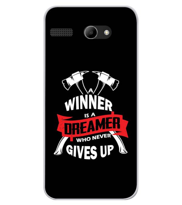 Winner is Dreamer Soft Silicone Back Cover for Lava Iris Atom X