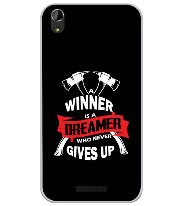 Winner is Dreamer Soft Silicone Back Cover for Lava Iris Atom X1