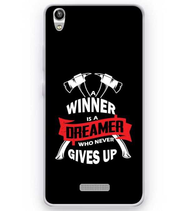 Winner is Dreamer Soft Silicone Back Cover for Micromax Canvas Fire Q386