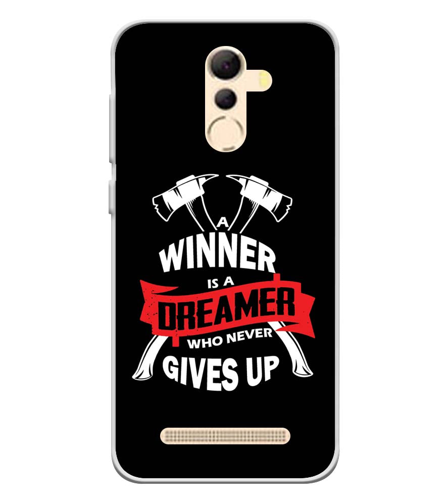 Winner is Dreamer Soft Silicone Back Cover for Coolpad Mega 5A